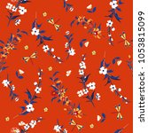 beautiful gentle trendy liberty ... | Shutterstock .eps vector #1053815099