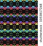 decorative mottled geometric...   Shutterstock .eps vector #1053817268
