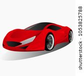sports red car | Shutterstock .eps vector #1053825788