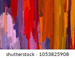 oil painting on canvas handmade.... | Shutterstock . vector #1053825908