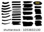 large set different grunge... | Shutterstock .eps vector #1053832130