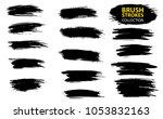 large set different grunge... | Shutterstock .eps vector #1053832163