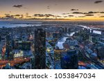 aerial view of dramatic night... | Shutterstock . vector #1053847034