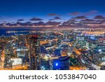 aerial view of dramatic night... | Shutterstock . vector #1053847040