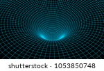 tunnel or wormhole. abstract...   Shutterstock .eps vector #1053850748
