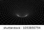 tunnel or wormhole. abstract...   Shutterstock .eps vector #1053850754
