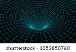 tunnel or wormhole. abstract...   Shutterstock .eps vector #1053850760