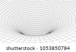 tunnel or wormhole. abstract...   Shutterstock .eps vector #1053850784