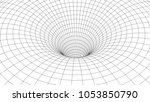 tunnel or wormhole. abstract...   Shutterstock .eps vector #1053850790
