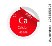 calcium simple style tile icon. ... | Shutterstock .eps vector #1053850808