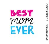 mother's day banner and... | Shutterstock .eps vector #1053852200