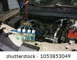 injector leak off test | Shutterstock . vector #1053853049