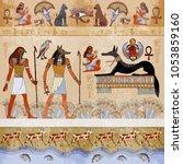 ancient egypt. grunge egypt... | Shutterstock .eps vector #1053859160