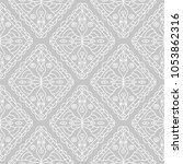 gray and white geometric print. ... | Shutterstock .eps vector #1053862316