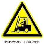 industrial trucks danger sign   Shutterstock . vector #105387044