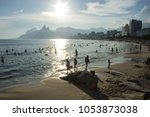 arpoador beach shore in rio de... | Shutterstock . vector #1053873038