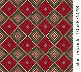 argyle abstract seamless...   Shutterstock .eps vector #1053875048