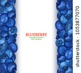 ripe blueberry fruit vertical...   Shutterstock .eps vector #1053877070