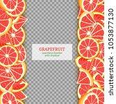 ripe grapefruit fruit vertical...   Shutterstock .eps vector #1053877130