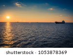 Container Ships In The Gulf Of...