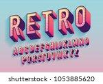 vintage  retro typography...   Shutterstock .eps vector #1053885620