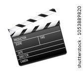 movie clapper board | Shutterstock .eps vector #1053889820