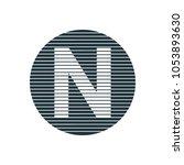 circle line letter | Shutterstock .eps vector #1053893630
