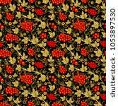 vector seamless pattern in... | Shutterstock .eps vector #1053897530