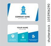 fire hydrant business card... | Shutterstock .eps vector #1053906290