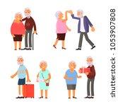 healthy active lifestyle... | Shutterstock .eps vector #1053907808