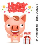 happy birthday to you funny...   Shutterstock .eps vector #1053908396