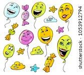 balloon  april fool's day | Shutterstock .eps vector #1053912794