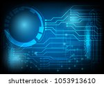 technology abstract background... | Shutterstock .eps vector #1053913610