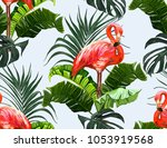 beautiful seamless vector... | Shutterstock .eps vector #1053919568