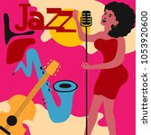 jazz music festival colorful... | Shutterstock .eps vector #1053920600