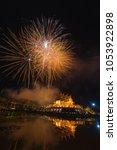 fireworks celebrate the new... | Shutterstock . vector #1053922898