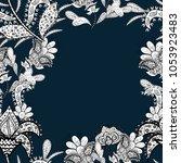seamless flowers pattern. in... | Shutterstock .eps vector #1053923483