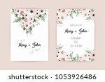 vector invitation with handmade ...   Shutterstock .eps vector #1053926486