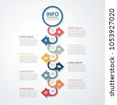 vector infographic template for ...   Shutterstock .eps vector #1053927020