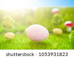 happy easter concept. colorful... | Shutterstock . vector #1053931823