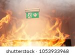 fire in the building | Shutterstock . vector #1053933968