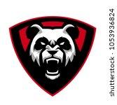 angry panda mascot logo | Shutterstock .eps vector #1053936824