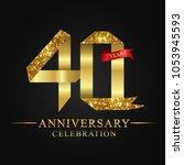 40th anniversary years... | Shutterstock .eps vector #1053945593