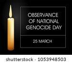observance of national genocide ... | Shutterstock .eps vector #1053948503