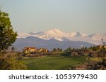Snow-capped Peak above the Golf Course