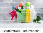 bio organic natural cleaning... | Shutterstock . vector #1053984284