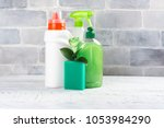 bio organic natural cleaning... | Shutterstock . vector #1053984290