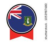 flag of virgin islands uk... | Shutterstock .eps vector #1053987680