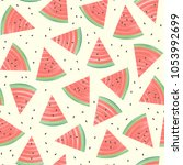 summer seamless pattern with... | Shutterstock .eps vector #1053992699