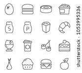 thin line icon set   cupcake...   Shutterstock .eps vector #1053995336